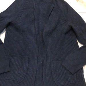 J. crew XS wool cardigan navy blue
